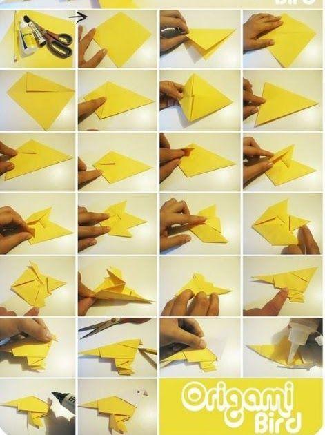 Gambar Origami Angsa 3 Dimensi Di 2020 Origami Origami 3d Seni