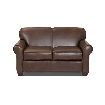 Jennifer 81 Rolled Arm Sofa Leather Loveseat Custom Upholstery Love Seat