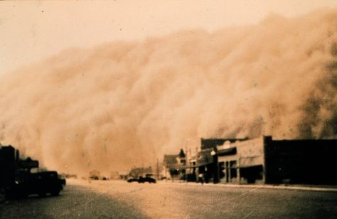 """There were three major dust storms during the Dust Bowl: November 11th, 1933, in South Dakota; May 9th, 1934, along the Great Plains; and the """"Black Blizzard"""" of April 14th, 1935. In the winter of 1935-36, red snow fell on New England."""