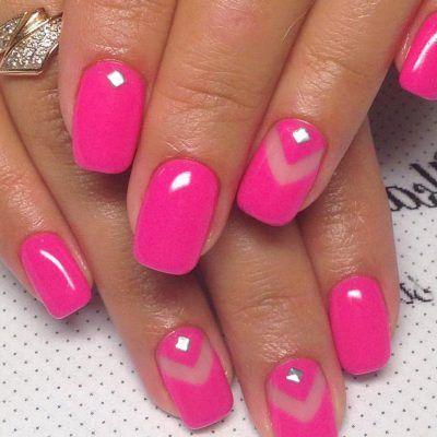 Ярко-розовый маникюр | Розовый маникюр, Гвоздь, Ногти