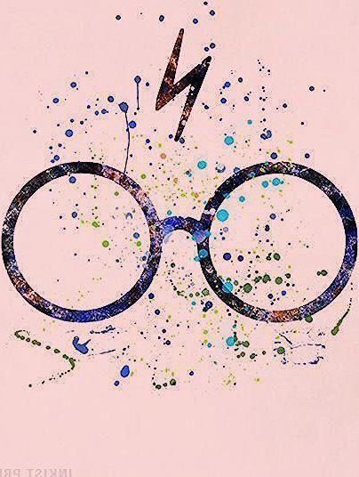 Lunettes Harry Potter Imprime Harry Potter Aquarelle Harry