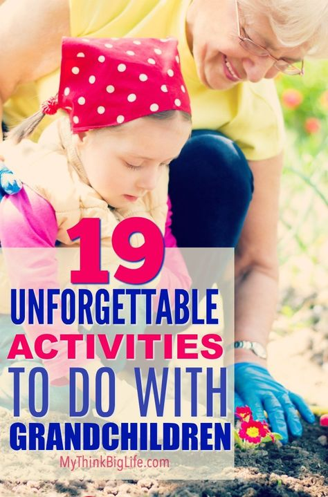 To be an unforgettable grandparent, you need to do memorable things with your grandchildren. Here are 19 unforgettable activities to do with grandchildren. These are grandparent tested and grandchild approved! Grandchildren, Grandkids, Grandmothers Love, Fun Crafts To Do, Activities To Do, Indoor Activities, Summer Activities, Elderly Activities, Kids And Parenting