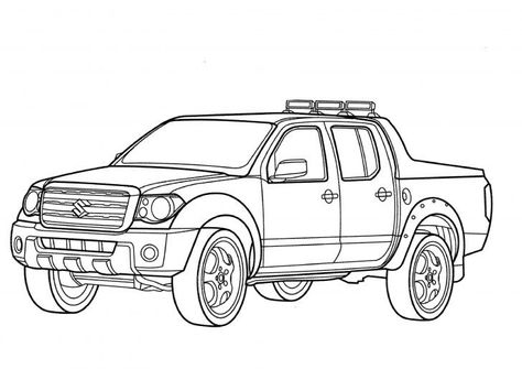 Suzuki Pick Up Truck Coloring Pictures Cars Coloring Pages