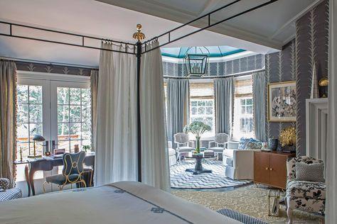Beautiful soft blue master suite