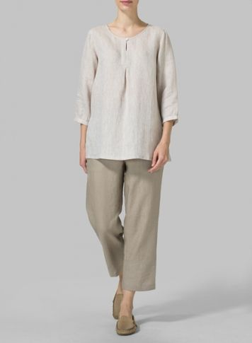 PLUS Linen Clothing - Shop our selection of tops and blouses at Vivid Linen.