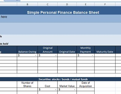 Check out new work on my @Behance portfolio  - opening balance sheet template