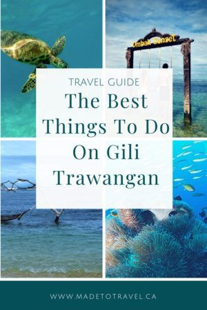 Looking for the best things to do on Gili Trawangan? Look no further! Click through for information on snorkelling, diving, restaurants, nightlife where to stay, and a map of Gili Trawangan! #gilitrawangan #gilit #indinesianisland #bali # madetotravel
