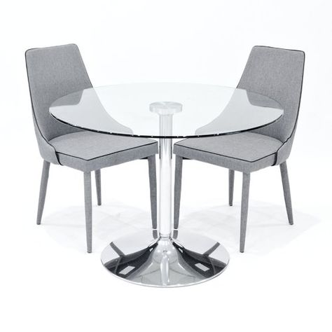 Alaska Dining Set With 2 Chairs Metro Lane Colour Chair Grey