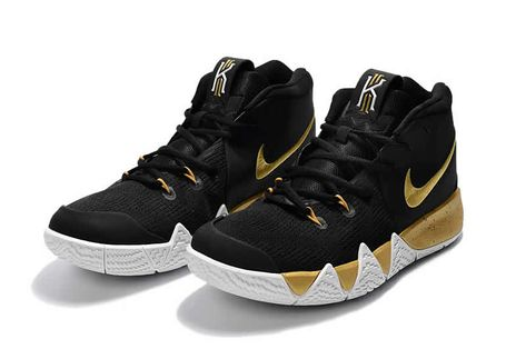 e1cd5cf3c3309a Wholesale nike kyrie 4 basketball shoes black gold on www.enjoyshoes ...