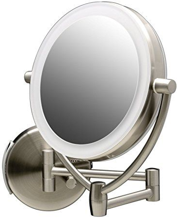 Ovente Led Lighted Wall Mount Makeup Mirror 7 5 Inch Battery Or Usb Adapter Operated 1x 10x Review Wall Mounted Makeup Mirror Lighted Vanity Mirror Diy Vanity Mirror