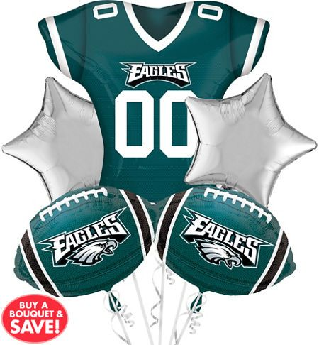 929ab068070 Philadelphia Eagles Balloon Bouquet 5pc | party theme | Philadelphia eagles  helmet, Football balloons, Eagles
