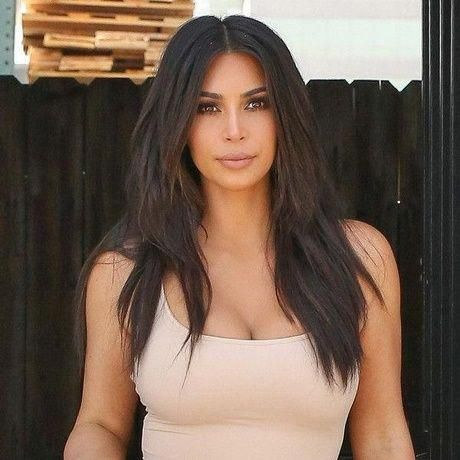 Kim K Frisuren 2018 Aesthetical Kim Kardashian Hair Hair Styles Kim Kardashian Haircut