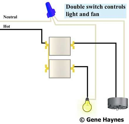 How To Wire Double Rocker Switch Wire Switch Electrical Wiring Light Switch Wiring
