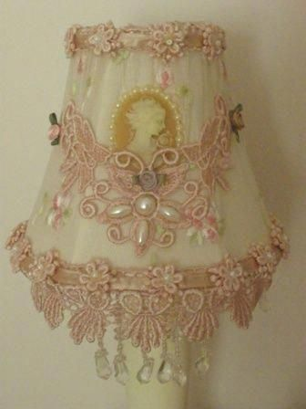 Gorgeous Altered Shabby Chic Lamp Shade