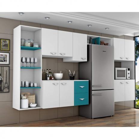 Cozinha Completa 5 Pecas 5 Portas Anabela Com Paneleiro Duplo