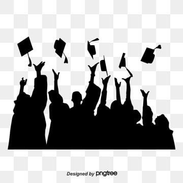 Black Graduation Silhouette Character Silhouette Student Png Transparent Clipart Image And Psd File For Free Download Graduation Silhouette Silhouette Png Graphic Design Background Templates