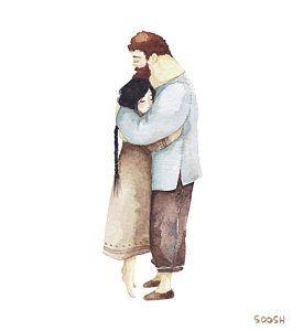 Hug Me Art Print