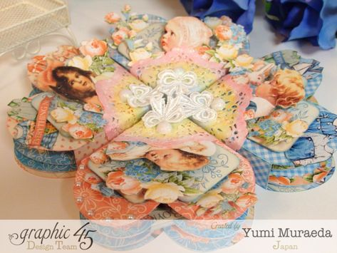 Precious Memories heart boxes and cards by the amazing Yumi! #graphic45