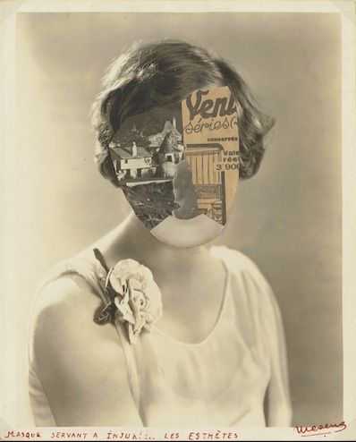 E.L.T. Mesens, Mask to Injure Aesthetes, 1929. Collection: The J. Paul Getty Museum, Los Angeles