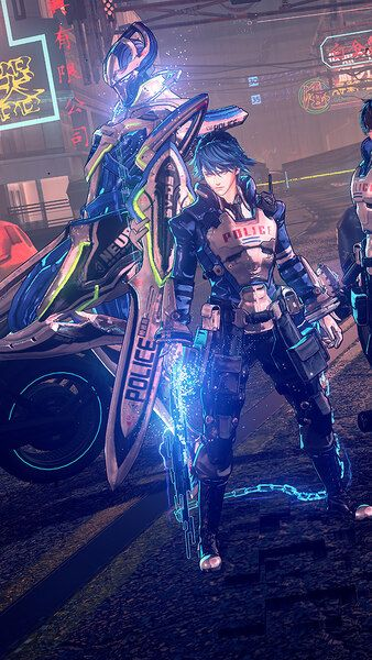 Astral Chain Sword Legion Neuron Members Characters 4k