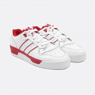 ADIDAS RIVALRY LOW WHITE RED EE4658
