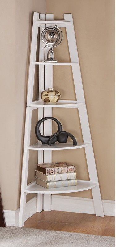 A.M.B. Furniture & Design :: Office Furniture :: Book Shelfs :: White finish wood corner shelf unit