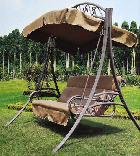 Ichiias Swing Sunshade Cover Garden Swing Cover Durable Fade-Proof Double People Home Balcony for Outdoor Garden Beige