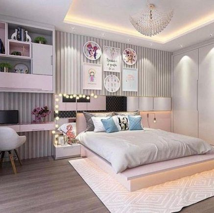 House Ideas White Light Fixtures 53 Ideas Small Apartment Bedrooms Woman Bedroom Girls Bedroom Lighting