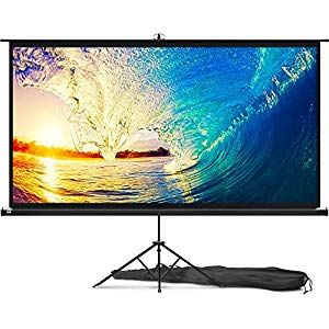 Projector Screen With Stand 100 Inch Indoor And Outdoor Projection Screen For Movie Or Outdoor Projection Screen Inflatable Movie Screen Outdoor Movie Screen