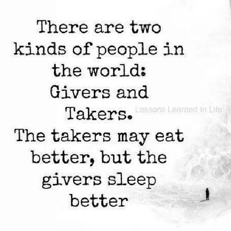 givers VS takers
