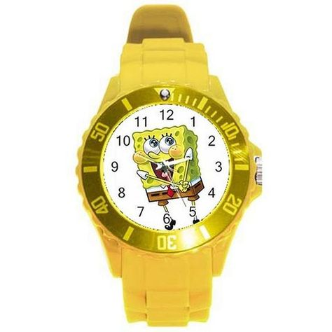 Sponge Bob on Yellow Plastic Watch...Great for Kids - Ships from Hongkong