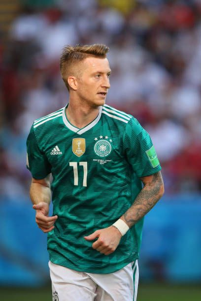 new products 732fc 6f110 Marco Reus of Germany in action during the 2018 FIFA World ...