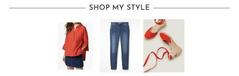 How to style red with denim for Spring    #ootd #wiw #lotd #over40 #over40fashion #fashion #howtodresswhenyoureover40 #over40style #midlife #whattowear #howtostyle #style #stylingtips #springstyle #looksforspring #springfashion #whattowearinspring #springlooks #springstylingtips #ideasonwhattowearinspring