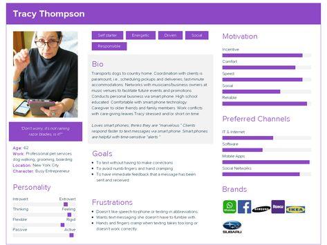 Tracy Thompson  User Persona