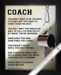 Coach Sport Poster Print has funny coach quotes to make you laugh. Give your favorite coach gifts that they'll love. Shop Gifts for Coaches and more Sports Gifts.