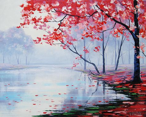 Misty Pink 3 Painting by Graham Gercken
