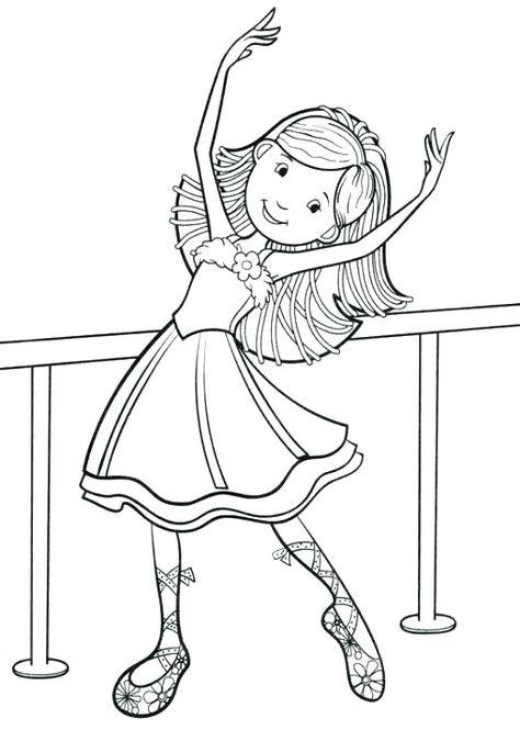 Dibujo Para Colorear Angelina Ballerina Para Little Ballet Dancer Smiling Coloring Page Para Ballerina Para Dibujos Para C Dibujos Para Colorear Dibujos Ballet