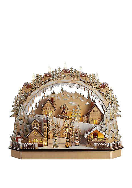 Kurt S Adler 15 In Battery Operated Led Village Tablepiece