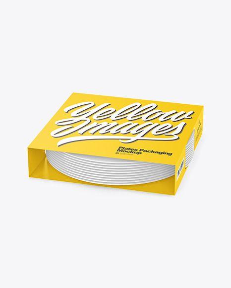 Plates Packaging Mockup In Packaging Mockups On Yellow Images Object Mockups In 2021 Packaging Mockup Mockup Packaging