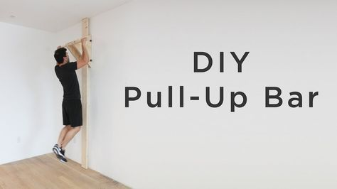 Full Instructions For This Diy Pull Up Bar Are Coming Soon To Homemade Modern Com I Will Be Posting More Diy Fitness Proje Diy Pull Up Bar Pull Up Bar Pull Ups