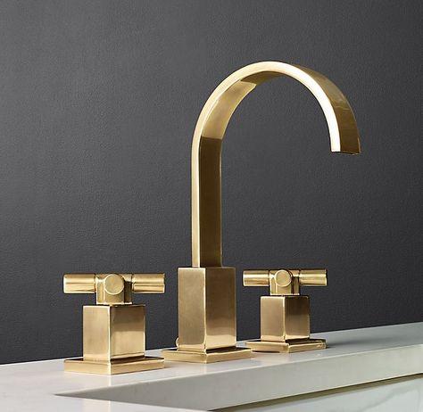 Bath: Modern Cross Handle Faucets