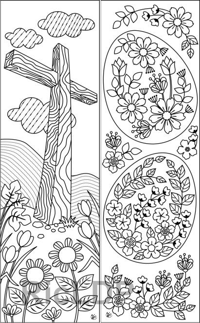 8 Easter Coloring Bookmarks Coloring Bookmarks Bible Coloring Pages Bible Coloring