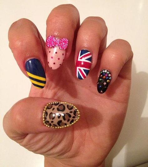 Spice girls themed nail art I created for District MTV. Check them out here:http://www.districtmtv.co.uk/article/topic/archive/yz30fb/nail-art-girl-pop-inspired/opwdoi