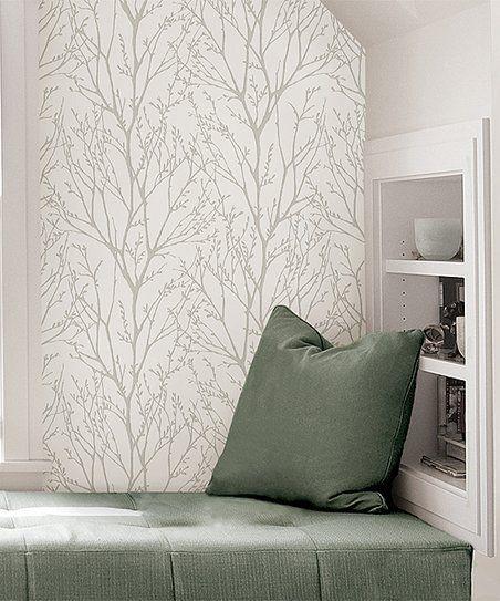 Wallpops Treetops Peel Stick Wallpaper Decal Zulily Nuwallpaper Peel And Stick Wallpaper Home Decor