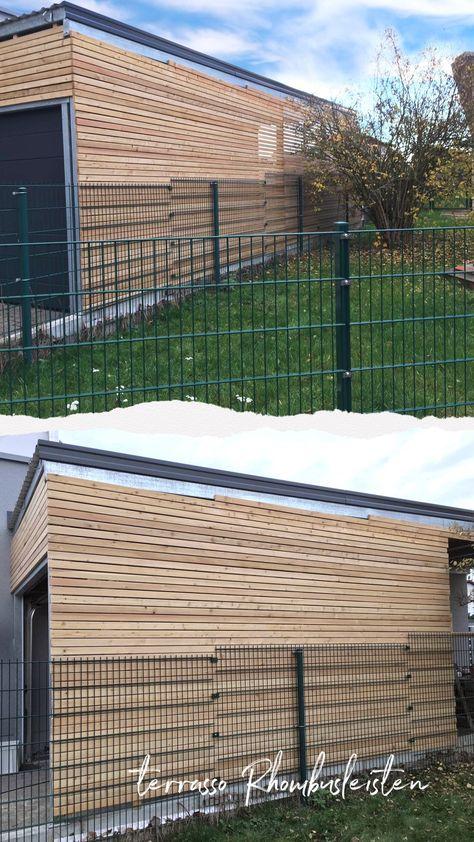 Sibirische Larche Rhombusleisten Rhombusprofil Fur Ihre Fassade Holz Meets Modern Verkleiden Sie Ihr Haus Oder Holzverkleidung Fassade Fassade Holz Fassade