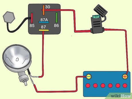 How To Wire Up Spotlights High Beam High Beam Beams Automotive Electrical
