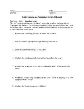 We Know That Our Students Love Technology I Created This Webquest For My Students When We Studied The Human Body Webquest Human Body Systems Human Body Unit