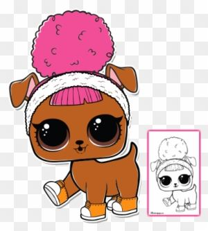 Lol Surprise Doll Coloring Pages Page 2 Color Your Lol Surprise Pets Hoops Dogg Lol Dolls Cool Coloring Pages Lol