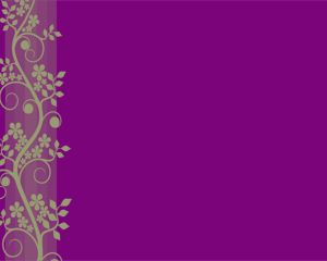 Violet Flower Powerpoint Template