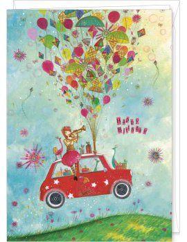 Jehanne Weyman Carte D Anniversaire Geante In The Sky Art Carte Carte Postale Carte Anniversaire